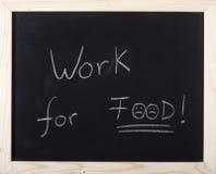 Trabajo para el alimento Fotografía de archivo