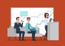 Trabajo profesional del negocio El encuentro discutiendo a gente se abre Foto de archivo libre de regalías