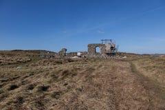 Trabajo sobre capilla de la ruina Imagenes de archivo
