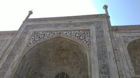 Trabajo sobre la pared del Taj Mahal Imagen de archivo