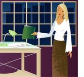 Trabajo tarde stock de ilustración