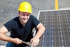 Trabajo verde - trabajador feliz Fotos de archivo libres de regalías