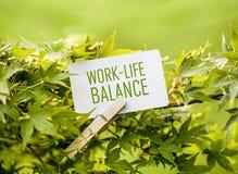 Trabajo-Vida-balanza Foto de archivo