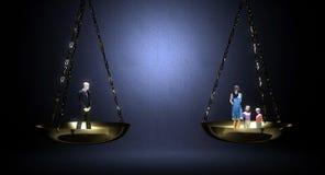 Trabajo y familia de equilibrio Imagen de archivo libre de regalías