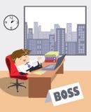 Trabajo y gente - Boss de la serie libre illustration