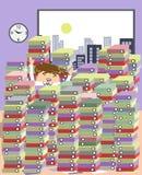 Trabajo y gente - porción de la serie de trabajo stock de ilustración