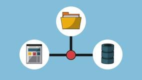 Trabajo y tecnología HD ilustración del vector