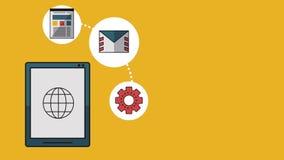 Trabajo y tecnología HD libre illustration