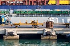 Trabajos al puerto Imagen de archivo