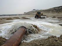 Trabajos de agua del delta en Holanda imagenes de archivo