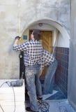 Trabajos de renovación de la casa Fotografía de archivo