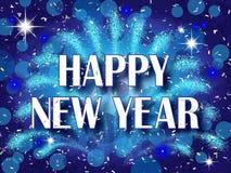 Trabajos del fuego de la Feliz Año Nuevo Imagen de archivo