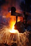 Trabajos del hierro de la acería Imágenes de archivo libres de regalías