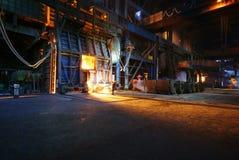 Trabajos del hierro de la acería Foto de archivo