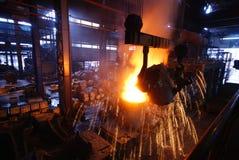 Trabajos del hierro de la acería Fotografía de archivo