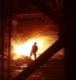 Trabajos del hierro de la acería Imagen de archivo