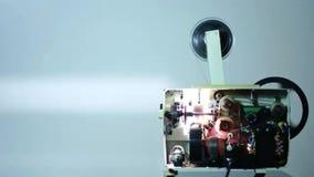 Trabajos del proyector del cine almacen de metraje de vídeo