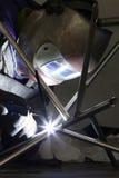 Trabajos del soldador Imagen de archivo libre de regalías