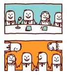 Trabajos en equipo libre illustration