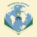 Trabajos geodésicos Imagenes de archivo