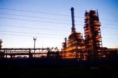 Trabajos industriales del petróleo Fotos de archivo libres de regalías