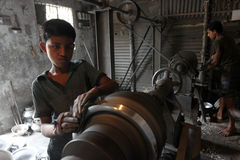 Trabajos infantiles brasileños Imágenes de archivo libres de regalías