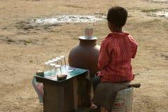 Trabajos infantiles en la India Imagen de archivo libre de regalías