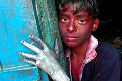 Trabajos infantiles en la India. Imagenes de archivo