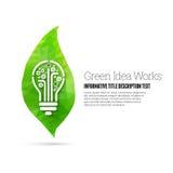 Trabajos verdes de la idea Foto de archivo libre de regalías