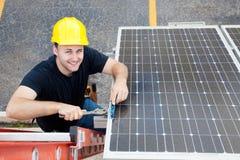 Trabajos verdes - recursos reanudables Imagen de archivo libre de regalías