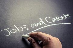 Trabajos y carreras Imagenes de archivo