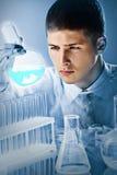 Trabalhador científico dedicado Imagem de Stock Royalty Free