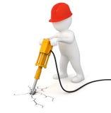 Trabalhador com jackhammer ilustração royalty free