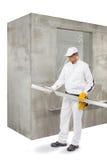 Trabalhador com um lath Imagem de Stock