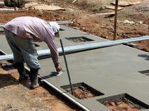 Trabalhador concreto Imagem de Stock