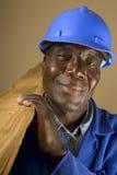 Trabalhador da construção africano Imagens de Stock Royalty Free
