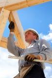 Trabalhador da construção autêntico Fotos de Stock