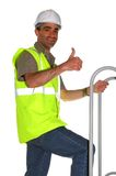 Trabalhador da construção de sorriso Foto de Stock Royalty Free