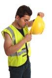 Trabalhador da construção do construtor fotografia de stock royalty free