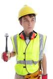 Trabalhador da construção do construtor do aprendiz fotografia de stock royalty free