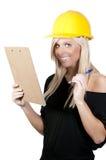 Trabalhador da construção fêmea Fotografia de Stock