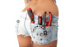 Trabalhador da construção fêmea Imagens de Stock