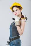 Trabalhador da construção fêmea 'sexy' Fotografia de Stock Royalty Free