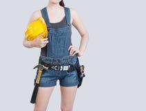 Trabalhador da construção fêmea 'sexy' Fotos de Stock