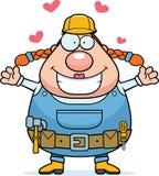 Trabalhador da construção Hug ilustração royalty free