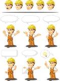 Trabalhador da construção industrial Customizable Mascot Imagem de Stock