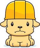 Trabalhador da construção irritado Puppy dos desenhos animados Foto de Stock