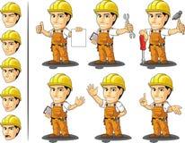 Trabalhador da construção Mascot 2 de Ndustrial ilustração royalty free