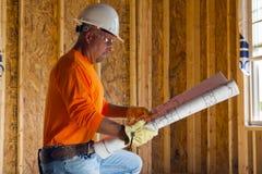 Trabalhador da construção masculino foto de stock royalty free