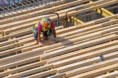 Trabalhador da construção, New York City fotografia de stock royalty free
